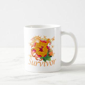 Survivor flower orange coffee mug