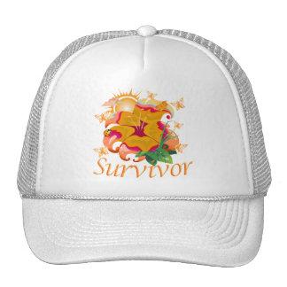 Survivor flower orange trucker hat