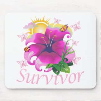 Survivor flower pink mouse pad
