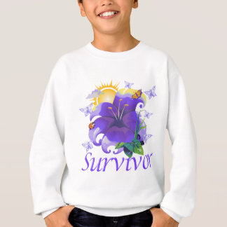 Survivor flower purple sweatshirt
