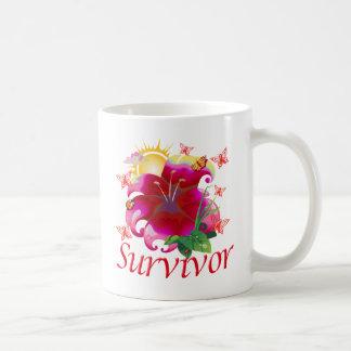 Survivor flower red coffee mug