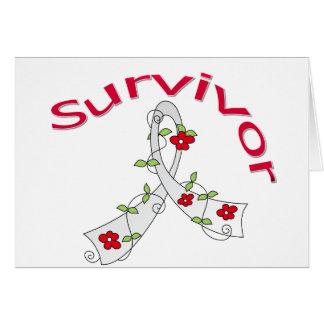 Survivor Flower Ribbon Lung Cancer Card