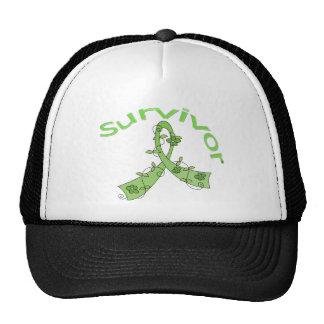 Survivor Flower Ribbon Non-Hodgkin's Lymphoma Trucker Hat