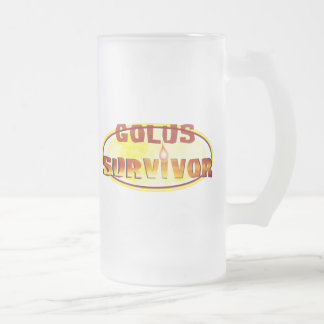 Survivor Frosted Glass Beer Mug