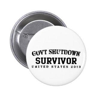 Survivor - Govt Shutdown 2013 Pinback Button