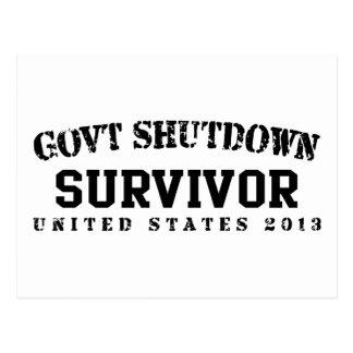 Survivor - Govt Shutdown 2013 Postcard