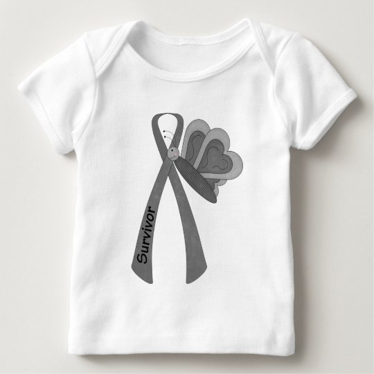 Survivor- Grey/ Silver Awareness Baby T-Shirt