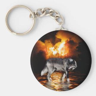"""""""Survivor"""" Grey Wolf Gifts Keychains"""