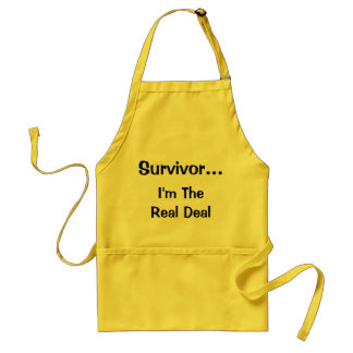 Survivor...I'm The Real Deal apron