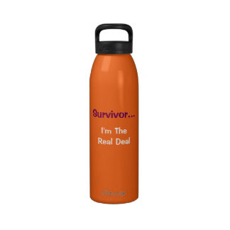 Survivor...I'm The Real Deal water canister Drinking Bottle