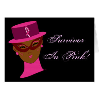 Survivor In Pink  Breast Cancer Awareness Greeting Card