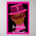 """Survivor In Pink"" Poster - Customizable"