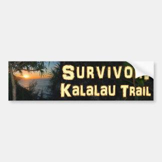 Survivor: Kalalau Trail Car Bumper Sticker