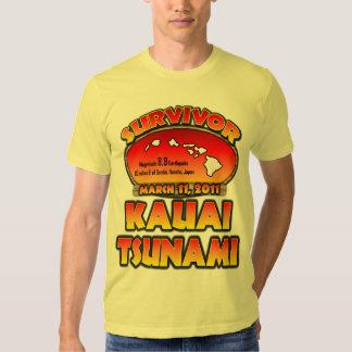 Survivor - Kauai, Hawaii Tsunami T Shirts
