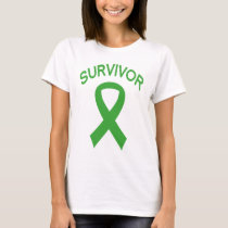Survivor Kidney Cancer Green Ribbon t-shirt