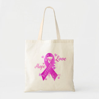 Survivor Love Hope Cure Tote Bag