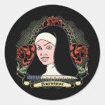 Survivor Nun Classic Round Sticker