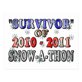 Survivor of 2010-2011Snow-A-Thon Postcard
