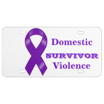 Survivor of Domestic Violence Auto Tag License Plate