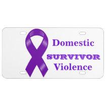 Survivor of Domestic Violence Auto Tag License Plate