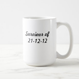 Survivor of the end of times classic white coffee mug