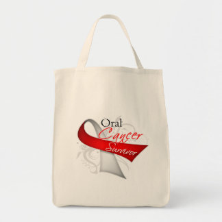 Survivor - Oral Cancer Canvas Bags