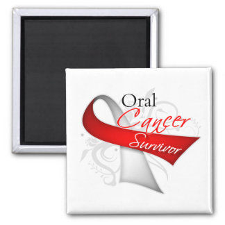 Survivor - Oral Cancer Fridge Magnets
