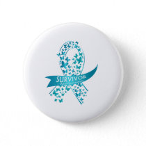 Survivor Ovarian Cancer Awareness Button