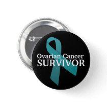 Survivor Ovarian Cancer Awareness Button