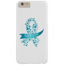 Survivor Ovarian Cancer Awareness Barely There iPhone 6 Plus Case