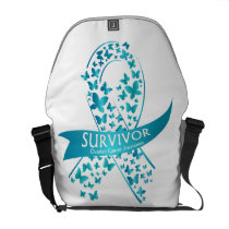 Survivor Ovarian Cancer Awareness Courier Bag