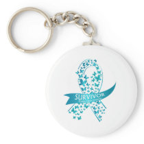 Survivor Ovarian Cancer Awareness Keychain
