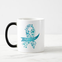 Survivor Ovarian Cancer Awareness Magic Mug