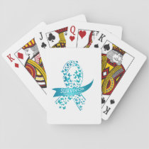 Survivor Ovarian Cancer Awareness Playing Cards