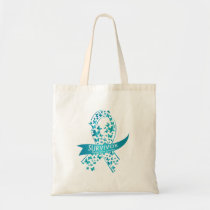 Survivor Ovarian Cancer Awareness Tote Bag