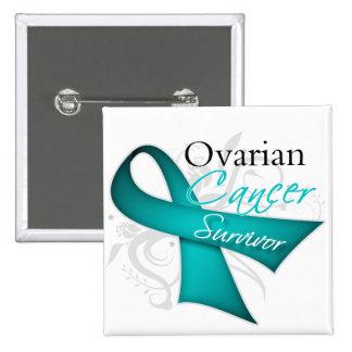 Survivor - Ovarian Cancer Pinback Button
