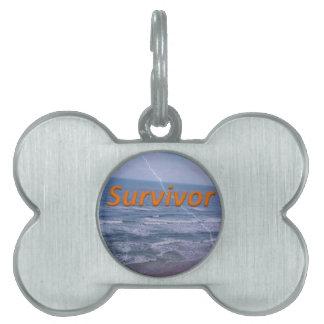 survivor pet ID tag