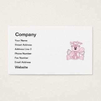 Survivor (pink bear) business card