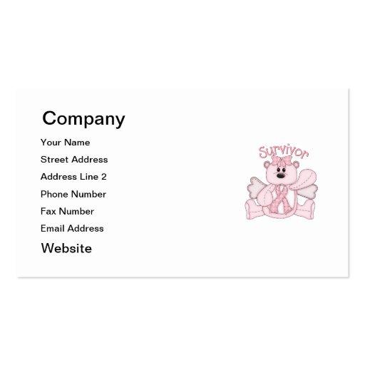 Survivor (pink bear) business card template