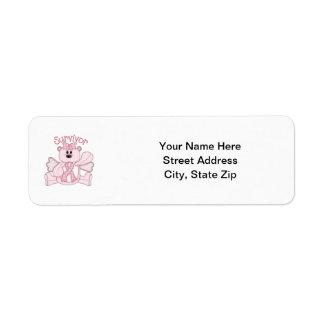 Survivor pink bear return address labels
