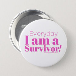 SURVIVOR Pink Button