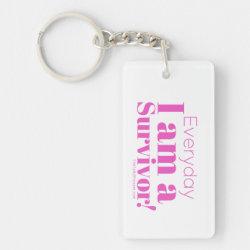 SURVIVOR Pink Keychain