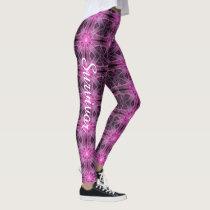 Survivor Pink Ribbon Breast Cancer Yoga Running Leggings