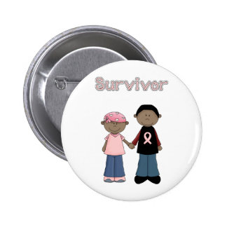 Survivor Pink Ribbon Cartoons Button