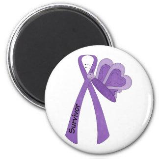 Survivor- Purple Awareness Magnets