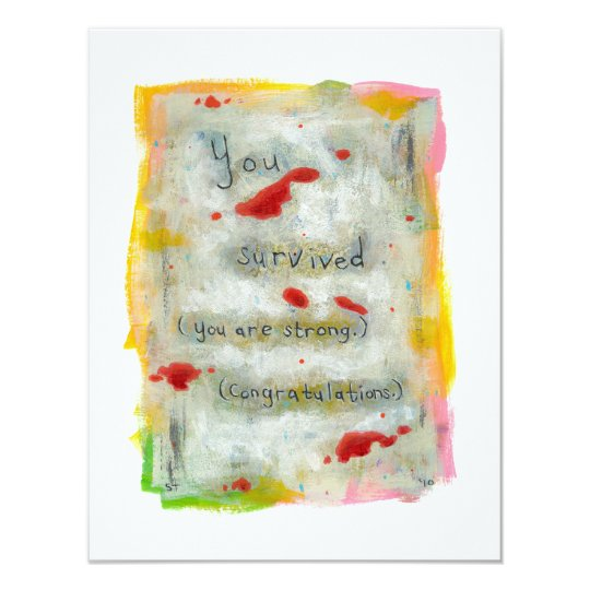 Survivor recovery healing hope art trauma illness card