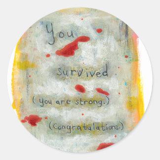 Survivor recovery healing hope art trauma illness stickers