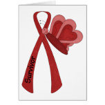 Survivor- Red Awareness Card