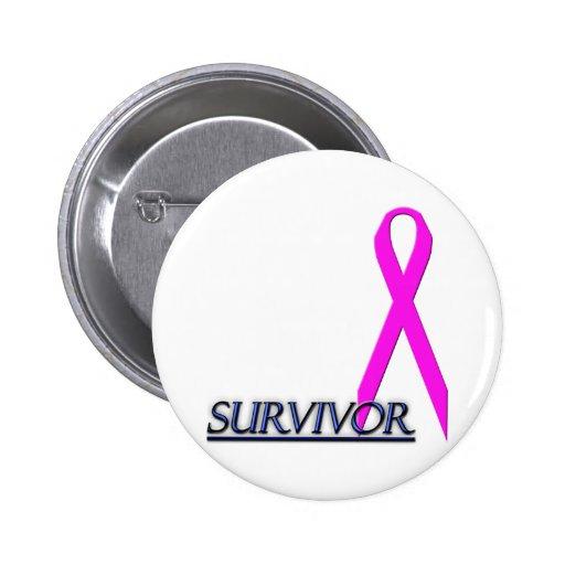 Survivor Ribbon 2 Inch Round Button