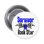 Survivor Rock Star - Colon Cancer Survivor Pins